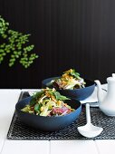 Thai salad with green mango and beef