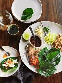 Miang (stuffed betel leaves, Thailand)