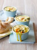 Ouefs en cocotte with spinach