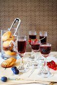 Blackcurrant and blueberry grappa