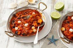 Octopus stew with carrots and tomatoes
