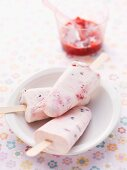 Healthy swaps for kids - Creamy berry iceblocks