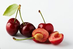 Cherries, whole and halved