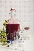 Home-made sloe gin