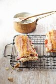 Toasted sandwich with ham and béchamel sauce