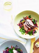 Pork with asian coleslaw