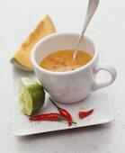 Spicly melon soup