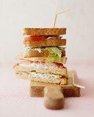 Salmon sandwich with tartare sauce