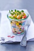 Bean salad with peppers