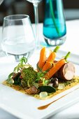 Rabbit roulade with carrots