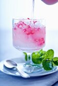 Granita with pomegranate seeds