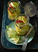 Fennel pickled in lemon vinegar