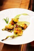 Ceviche of grilled grouper