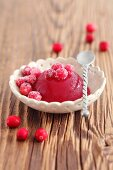 Cranberry jelly with candied cranberries
