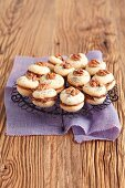 Biscuits with chocolate filling and walnuts
