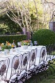 A Table set for Dining Outdoors