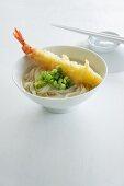 Ramen noodles with a tempura prawn (Japan)