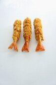 Three tempura prawns