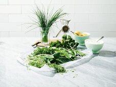 Ingredients for Frankfurt 'Green Sauce'
