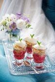 Cold rhubarb crumble