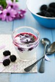 Blackberry yoghurt