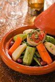 Vegetable tajine with olives