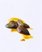 Pumpkin seeds in pumpkin seed oil