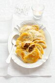 Pierogi (dumplings filled with sauerkraut and mushrooms, Poland) for Christmas