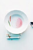 Soup bowl, emptied