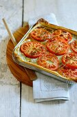 Vegetable tart with tomatoes