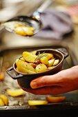 Tray-baked potatoes with rosemary