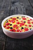 Clafouti with berries