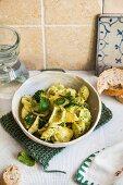 Orecchiette pasta with broccoli and mint
