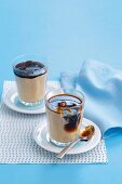 Chai latte dessert with coffee syrup