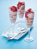 Strawberry layered dessert