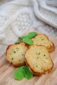 Mini Welsh Rarebits with herbs