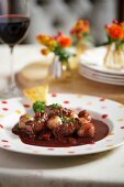 Boeuf Bourguignon (beef in a red wine sauce, France)