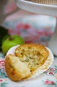 A courgette muffin
