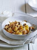 Oats with nuts, fruit and yoghurt
