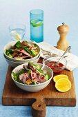 Pork, pineapple and cucumber salad