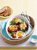 Salsa and egg mushrooms