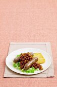 Boston Beans with sausages