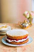 A raspberry sponge cake