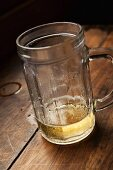 Leftover beer in a tankard