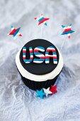A 4th of July cupcake (USA)