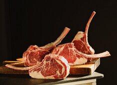 Tomahawk steaks (ribeye steaks with extra long bones)