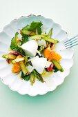 A salad with Parmesan mousse