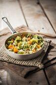 Raviolini verdi (green mini ravioli with vegetables, Italy)