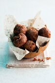 Baked coconut and rice pudding balls