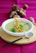 Jerusalem artichoke soup with chives